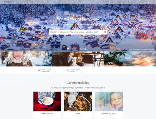 Screenshot of 500px Prime Homepage