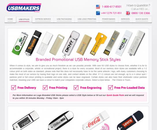 Screenshot of USB Makers.com