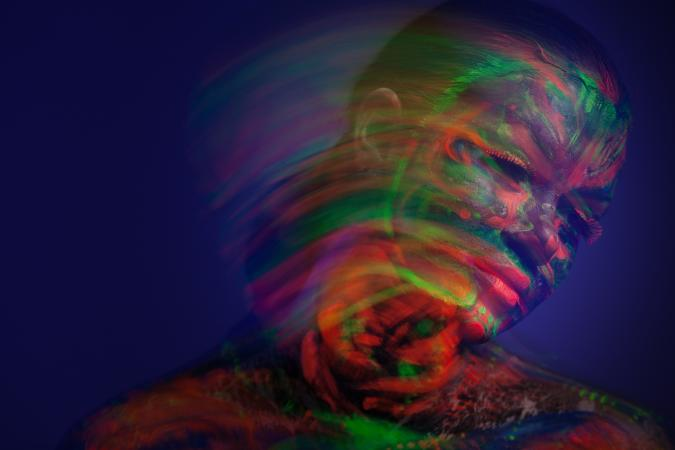 fluorescent portrait under ultraviolet
