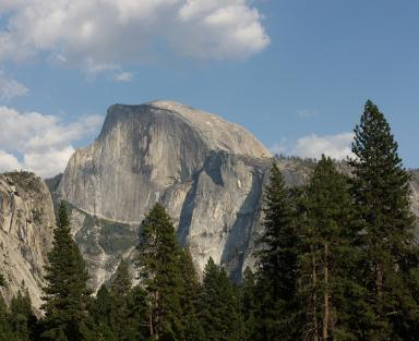 The famous Half Dome at Yosemite.