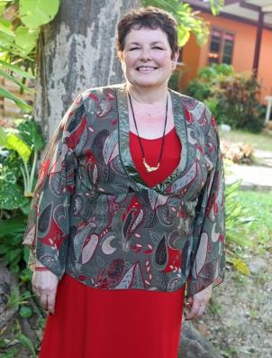 mother of the bride red dress