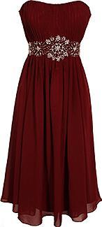 Strapless Chiffon Goddess Gown Prom Dress Formal Knee-Length Junior Plus Size