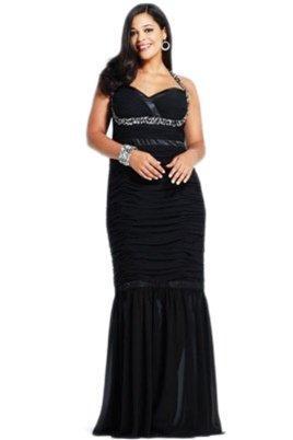 Faviana 9251 Ruched Sheath Modified Mermaid Gown