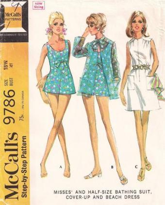 Finding Vintage Plus Size Swimwear Sewing Patterns