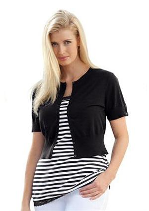 Cropped Shrug Cardigan from Jessica London