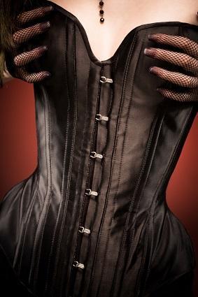 Plus Size Leather Corset Dress