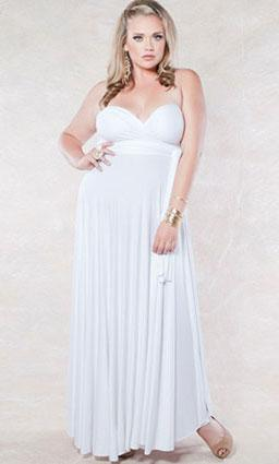 Eternity Maxi Convertible Dress in White