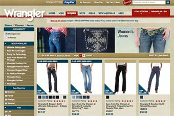 Wrangler women's jeans online store