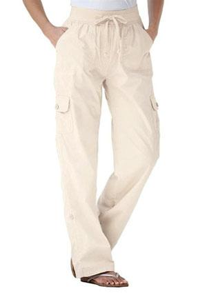 Plus size pants with convertible length