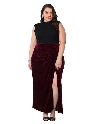 Kiyonna velvet Maxi Skirt