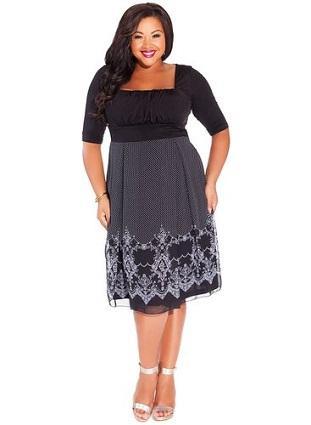 IGIGI Women's Plus Size Hayleigh Dress in Black