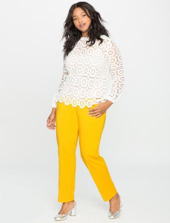 Kady Fit Double-Weave Pant