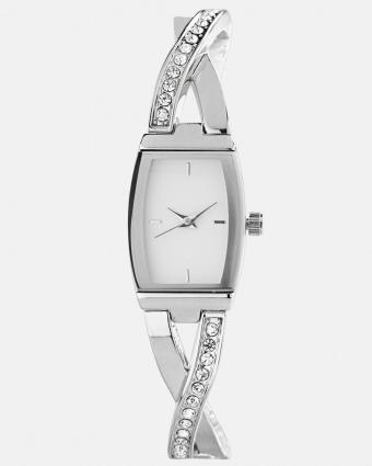 Criss cross banglette link watch