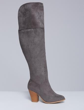 Over-the-knee boot with block heel