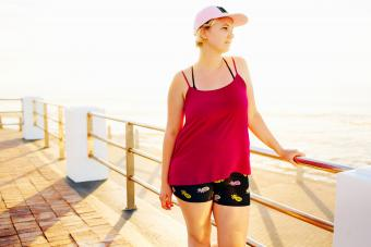 Cute and comfortable beach outfit