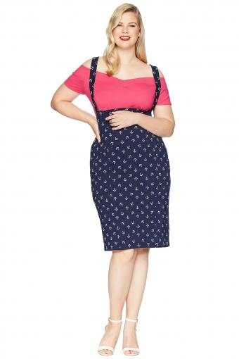 Plus Size Sabrina Suspender Skirt