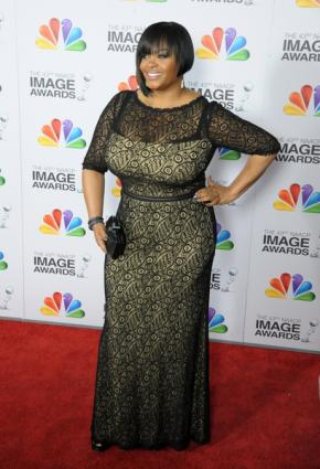 Jill Scott on fancy sheath dress