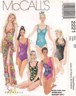McCall's vintage swimwear pattern 2221