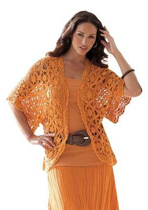 Shrug Cardigan in Crochet from Jessica London