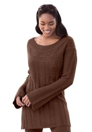 Jessica London cable knit tunic