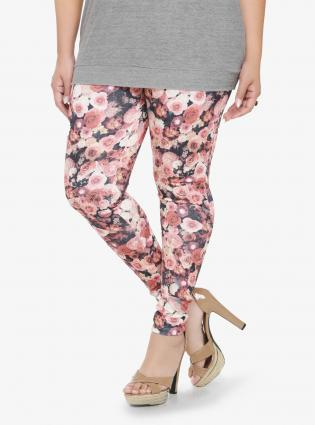 Dark Floral Print Leggings from Torrid