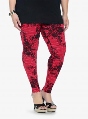 Floral and Pin Dot Leggings from Torrid