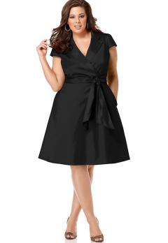 Spense Short Sleeve Wrap Around Dress