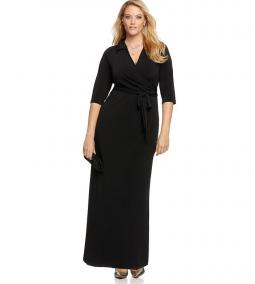 NY Collection Faux Wrap Maxi Dress from Macy's