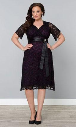 Kiyonna Retro Glam Lace Dress