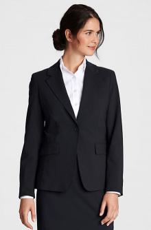 Women's Plus Size Washable Wool 1-button Blazer
