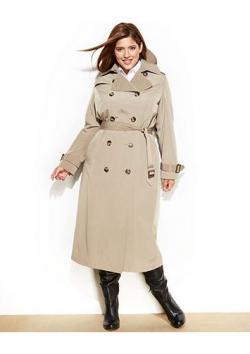 London Fog Plus Size Trench Coat