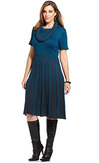 Alfani striped cowl neck sweater dress