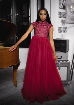 Gia Lace and Tulle Gown at Dauxilly.com