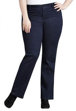 Avenue Navy Butter Denim Bootcut Jeans