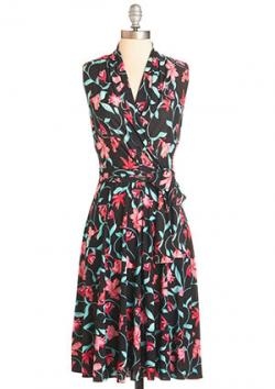 Modcloth Barcelona Fide Beauty Dress
