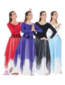 Handkerchief Overlay Skirt