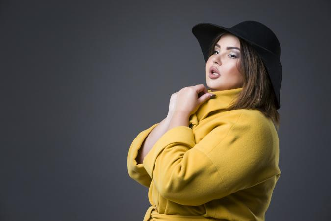 Plus size fashion model