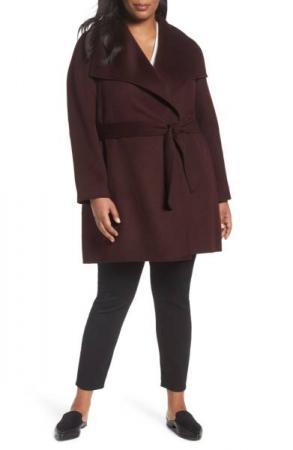 Tahari's Ella Wrap Coat