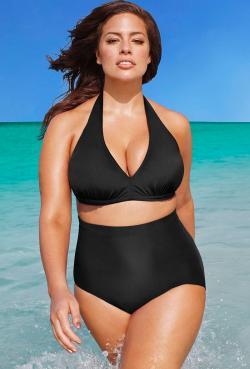Diva Black High Waist Bikini