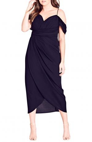 City Chic Entwine Cold Shoulder Maxi
