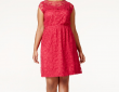 American Rag Illusion Lace Flare Dress