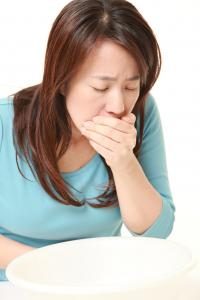 Japanese woman with morning sickness