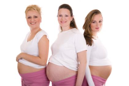 Image of three pregnant women