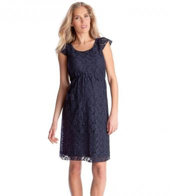 Navy Lace Maternity Dress from Seraphine