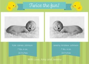 Birth Announcements for Twins