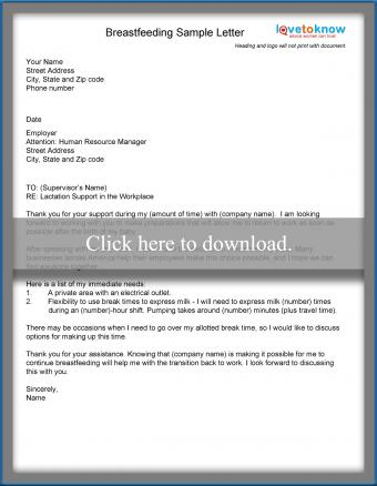 Download this letter for breastfeeding accommodations