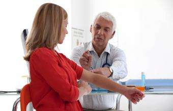 Gynecology consultation about birth control implant