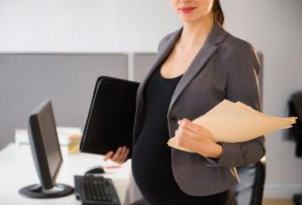 Pregnant Business Woman in Suit