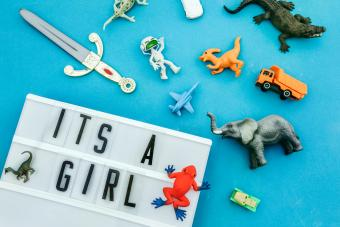 It's a girl message in lightbox