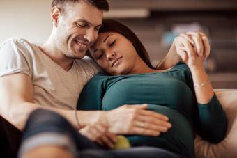 touching moment for expecting parents